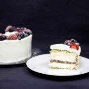 Торт кокосово-фисташковый