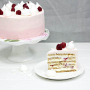 Миндально-малиновый торт