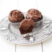 Шоколадно-кофейные капкейки с шоколадным кремом и ганашем