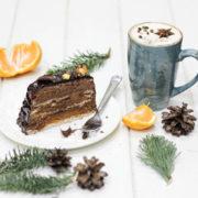 Рождественсоке шоколадное полено-2