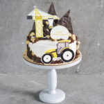 детский торт стройка