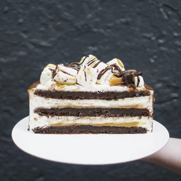 Торт шоколадно-карамельный разрез