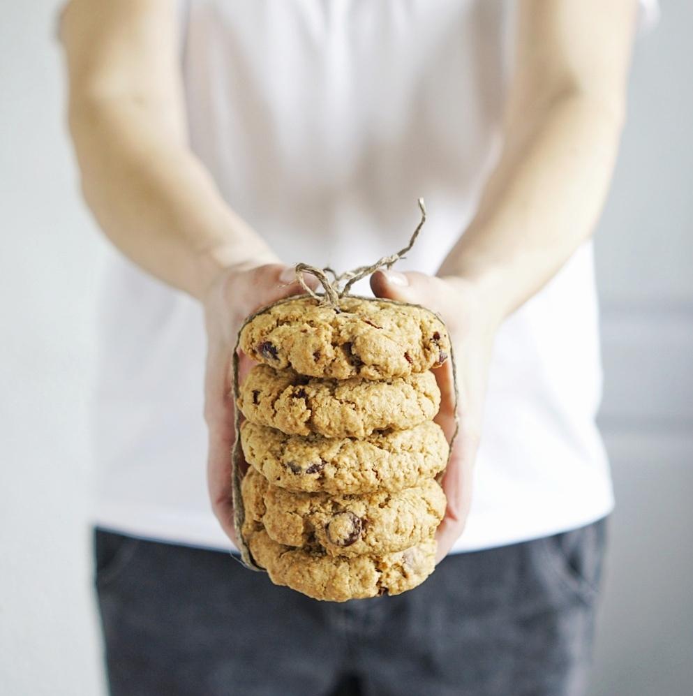 рецепт овсяного печенья с клюквой