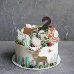 детский торт с оленем