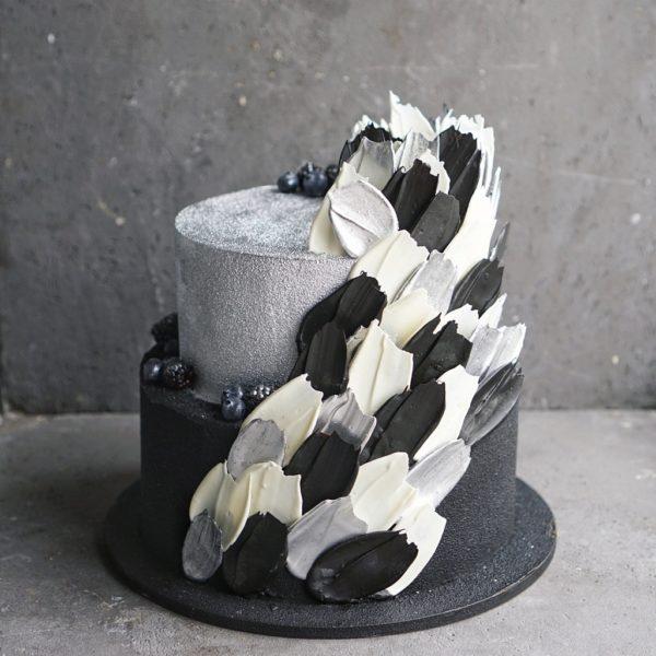 Серебряный торт на заказ москва