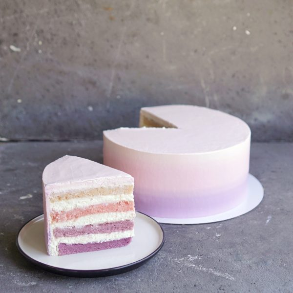 Торт с цветными коржами на заказ москва