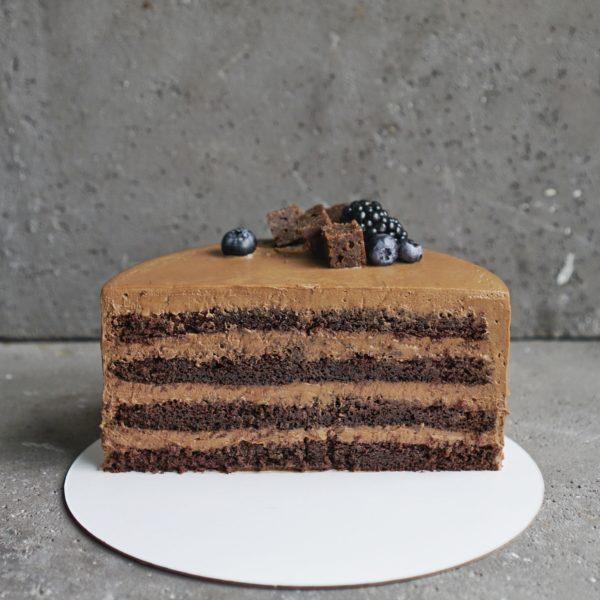 Шоколадный торт с шоколадным кремом москва